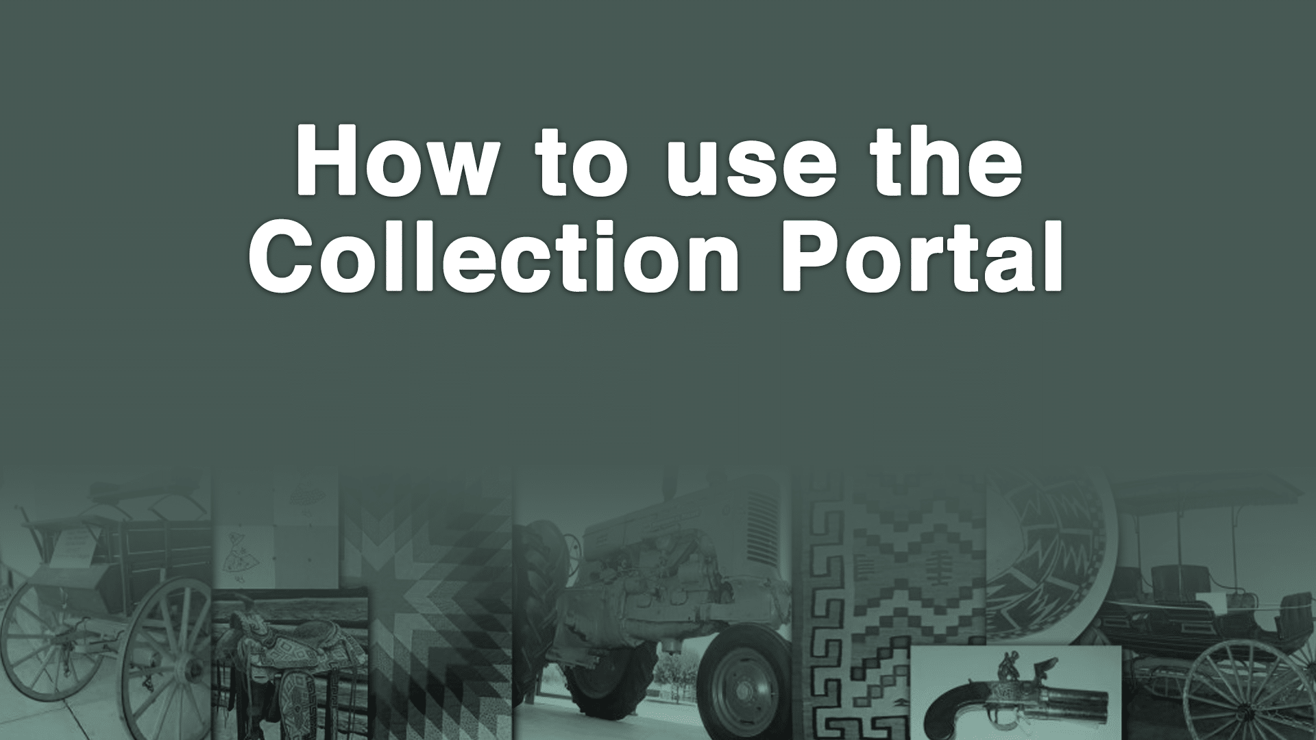 Collection Portal Tutorial